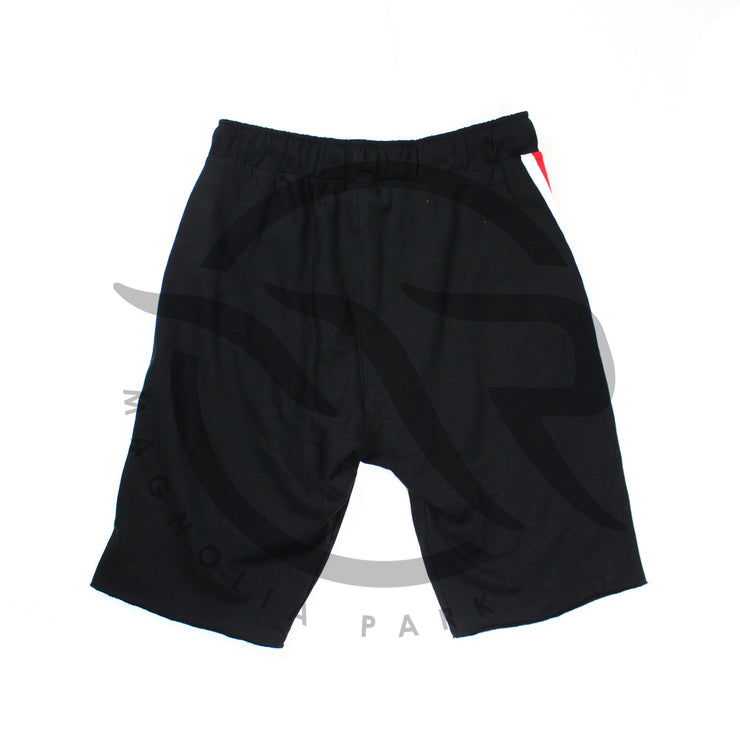"MAGNOLIA PARK - ""VARSITY"" TERRY SHORTS (BLACK/RED)"