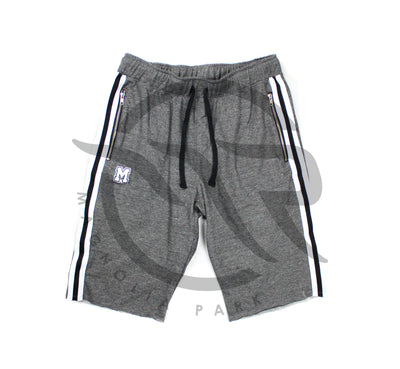 "(OC)MAGNOLIA PARK - ""VARSITY"" TERRY SHORTS (GREY/BLACK)"