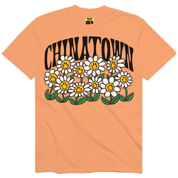 CHINATOWN MARKET - SMILEY FLOWER POWER TEE (PCH)