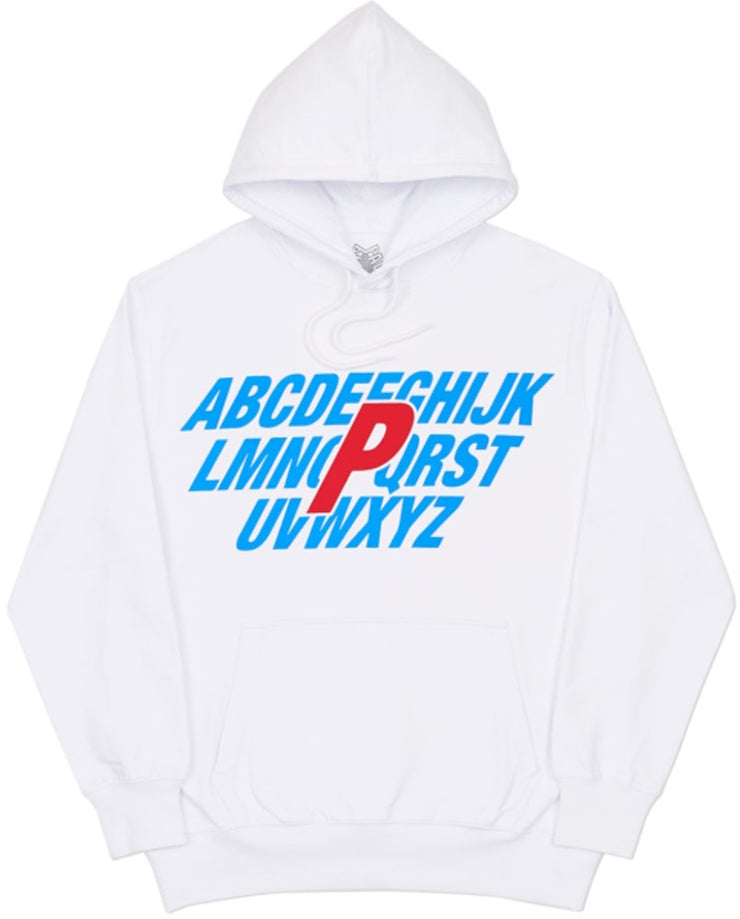 PALACE - ALPHA HOODED SWEATSHIRT (WHITE)