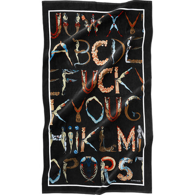 SUPREME - ALPHABET BEACH TOWEL (BLACK)