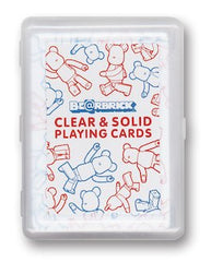 BE@R - CLEAR&SOLID PLAYING CARDS