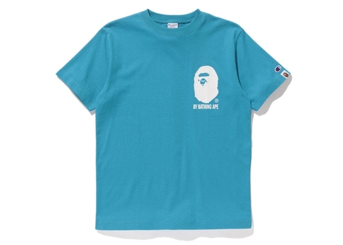 BAPE X CHAMPION - TEE (BLUE)