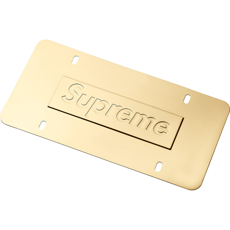 SUPREME - CHAIN LICENSE PLATE FRAME (GOLD)