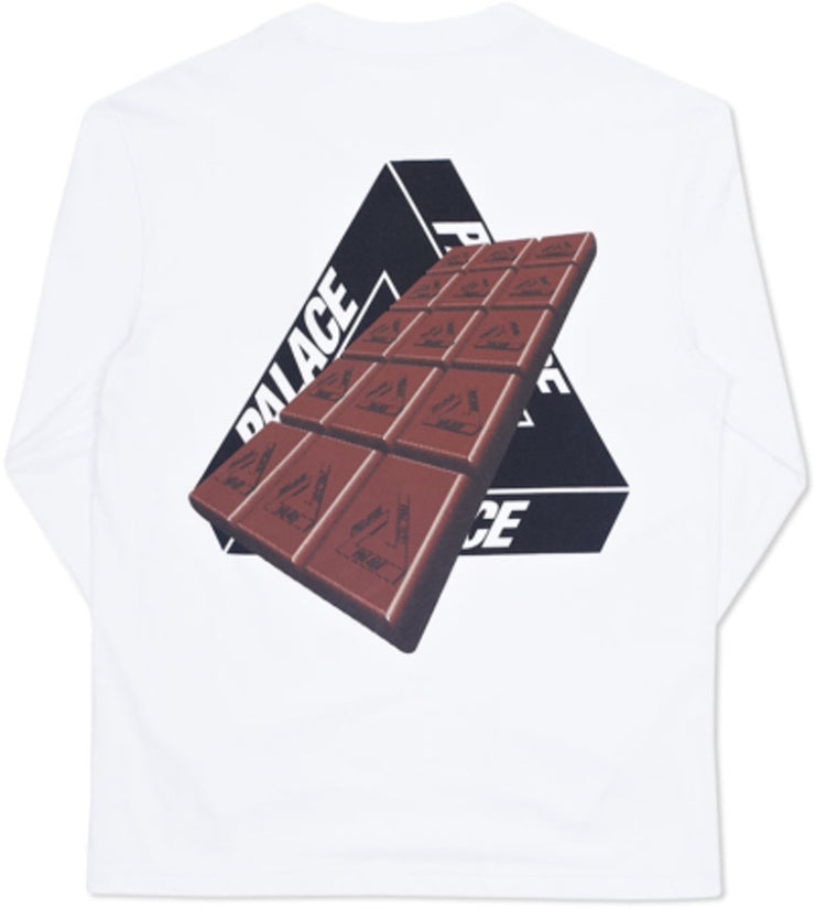 PALACE - TRI-COCO L/S TEE (WHITE)