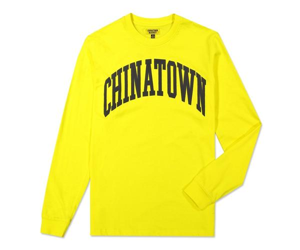 CHINATOWN MARKET - ARC LONG SLEEVE (YELLOW)