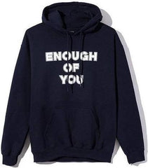ANTI SOCIAL SOCIAL CLUB - ENOUGH OF YOU COACHES HOODED SWEATSHIRT