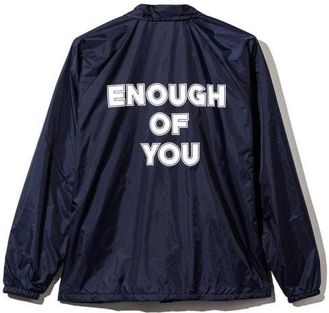 ANTI SOCIAL SOCIAL CLUB - ENOUGH OF YOU COACHES JACKET (NAVY)