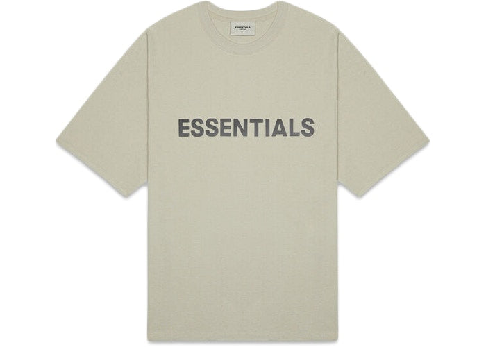 FEAR OF GOD ESSENTIALS 3D SILICON APPLIQUE BOXY TEE - MOSS