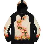 SUPREME/JEAN PAUL GAULTIER - FLORAL PRINT HOODED SWEATSHIRT (BLACK)