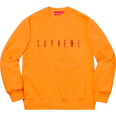 SUPREME - FUCK YOU CREWNECK (TANGERINE)