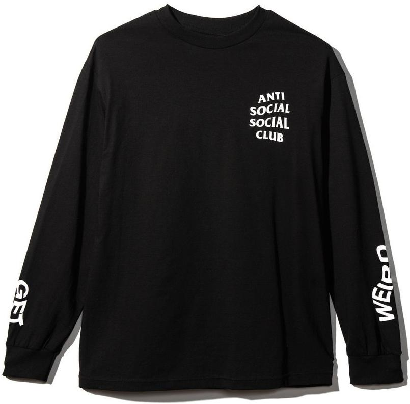 ANTI SOCIAL SOCIAL CLUB - GET WEIRD L/S TEE (BLACK)