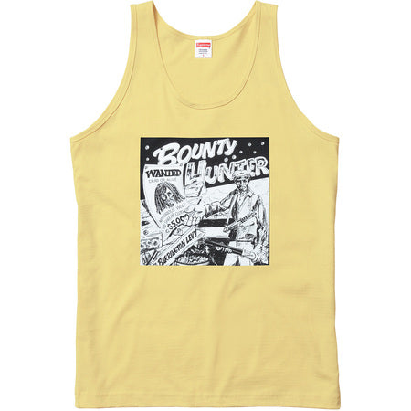 SUPREME/BARRINGTON LEVY & JAH LIFE - BOUNTY HUNTER TANK TOP (PALE YELLOW)