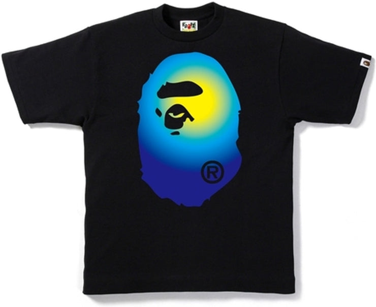 BAPE - GRADATION BIG APE HEAD TEE (BLACK/BLUE)