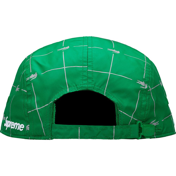 SUPREME/LACOSTE - REFLECTIVE GRID CAMP CAP (GREEN)