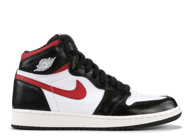 AIR JORDAN RETRO 1 HIGH OG (GS) - GYM RED (BLACK)
