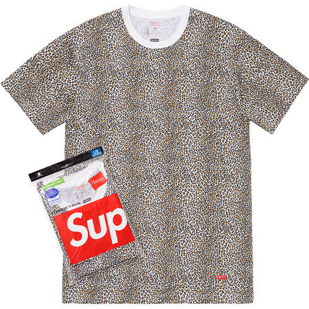 SUPREME/HANES - LEOPARD TAGLESS TEES (2 PACK)