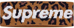 SUPREME/NEW ERA - BIG LOGO HEADBAND (LEOPARD)