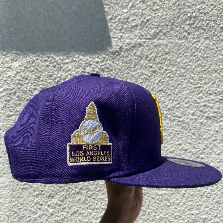"NEW ERA - 9FIFTY LOS ANGELES ""DODGERS"" 1959 WS SNAPBACK (PURPLE/GOLD)"