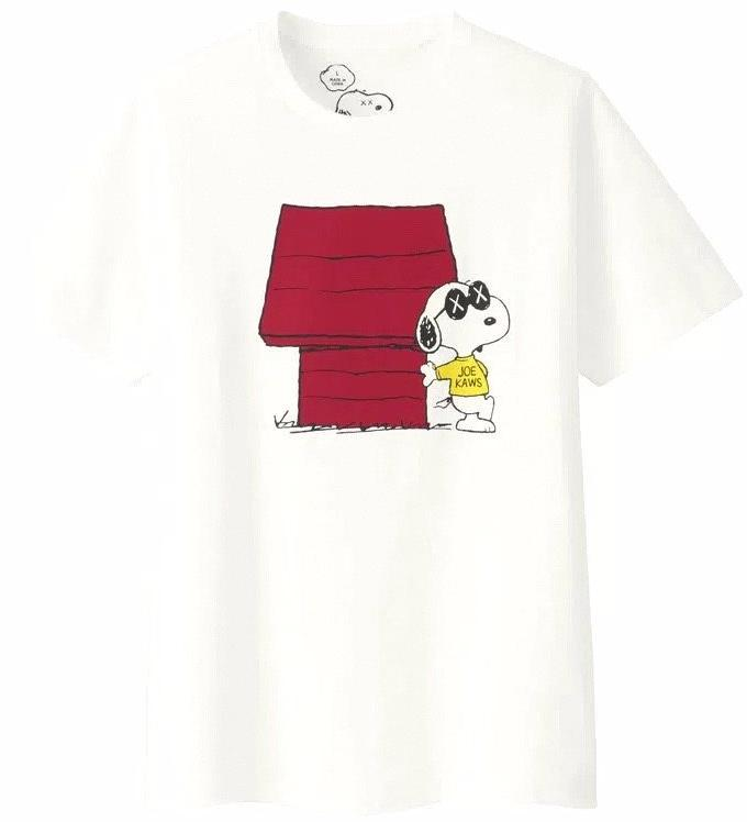 KAWS/PEANUTS/UNIQLO - JOE KAWS DOGHOUSE TEE (WHITE)