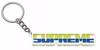 SUPREME - EMBOSSED KEYCHAIN (BRIGHT GREEN)