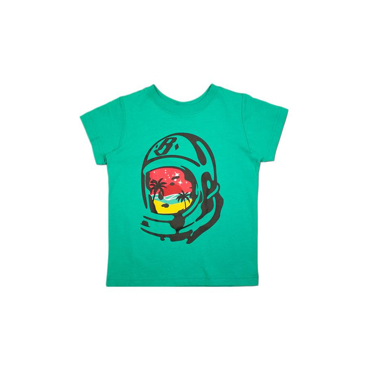 BILLIONAIRE BOYS CLUB (KIDS) - BB PARADISE HELMET SS TEE (SPECTRA GREEN)