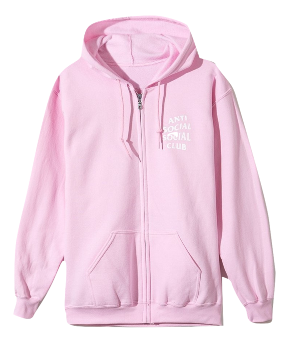 ANTI SOCIAL SOCIAL CLUB - KKOCH ZIP UP HOODIE (PINK)