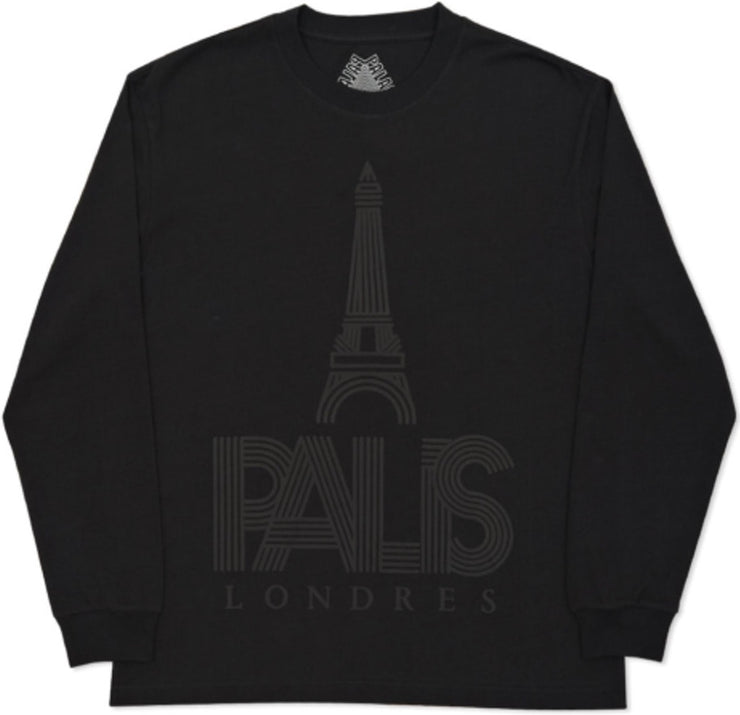 PALACE - P-LONDRES L/S TEE (BLACK)