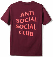 ANTI SOCIAL SOCIAL CLUB - LOST FEELIES TEE (BURGUNDY)