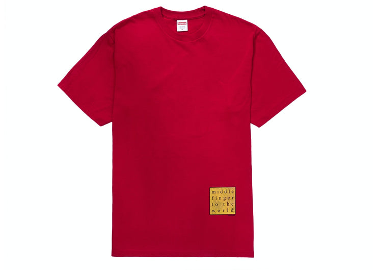 SUPREME - MIDDLE FINGER TEE (RED)