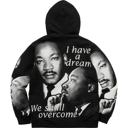 SUPREME - MLK HOODED SWEATSHIRT (BLACK)