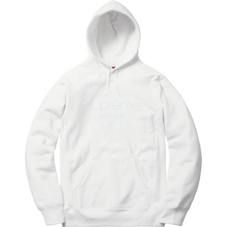 SUPREME - MULTI COLOR CLASSIC LOGO HOODED SWEATSHIRT (WHITE) [USED]