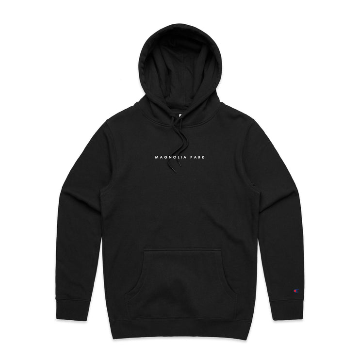 MAGNOLIA PARK X CHAMPION - TOUR '19 HOODIE (BLACK/WHITE)