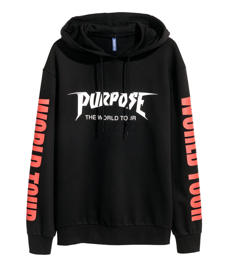 PURPOSE TOUR MERCH - HOODIE (BLACK)