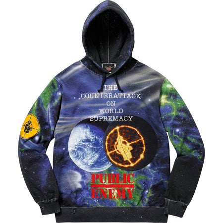 SUPREME/UNDERCOVER/PUBLIC ENEMY - HOODED SWEATSHIRT
