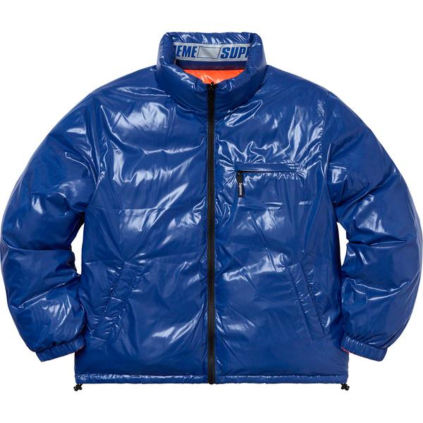 SUPREME - SHINY REVERSIBLE PUFFY JACKET (ORANGE)