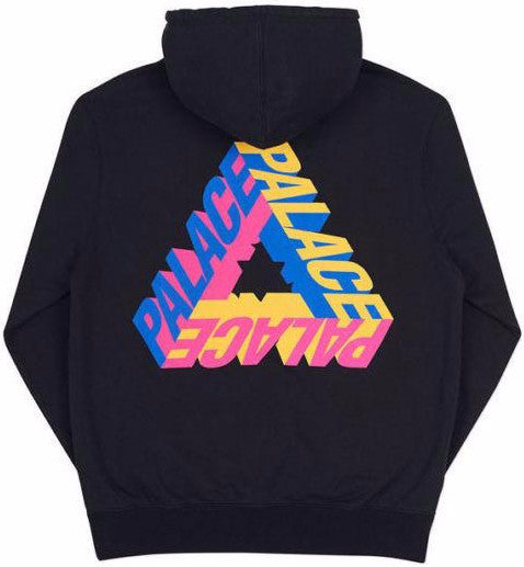 PALACE - P-3D HOODED SWEATSHIRT (BLACK)