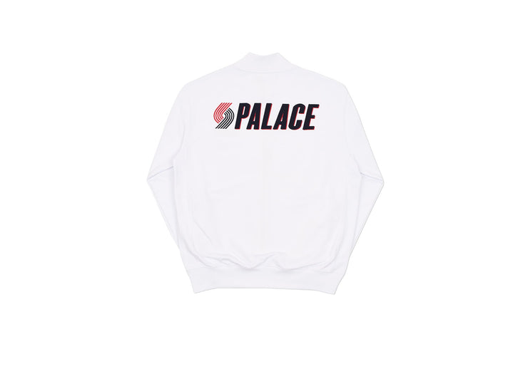 PALACE - BLAZED ZIP BOMBER (WHITE)