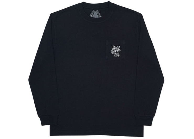 PALACE - P JEANS POCKET TEE L/S (BLACK)