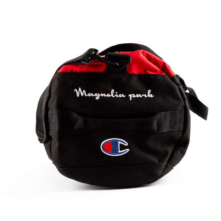MAGNOLIA PARK - MAG CHAMPION DUFFLE (BLK/RED)