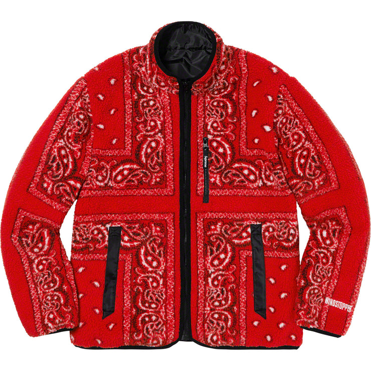 SUPREME - REVERSIBLE BANDANA FLEECE JACKET (RED)