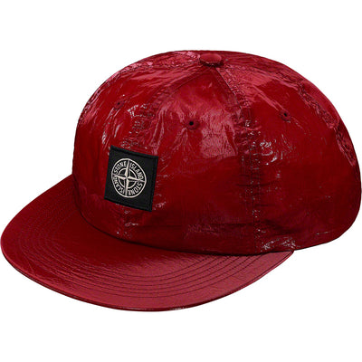 SUPREME/STONE ISLAND - NEW SILK LIGHT 6-PANEL (RED)