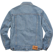 SUPREME - STUDDED DENIM TRUCKER JACKET (BLUE)