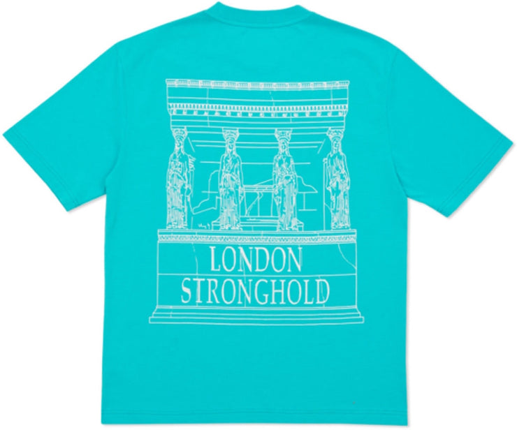 PALACE - LONDON STRONGHOLD TEE (AQUA)