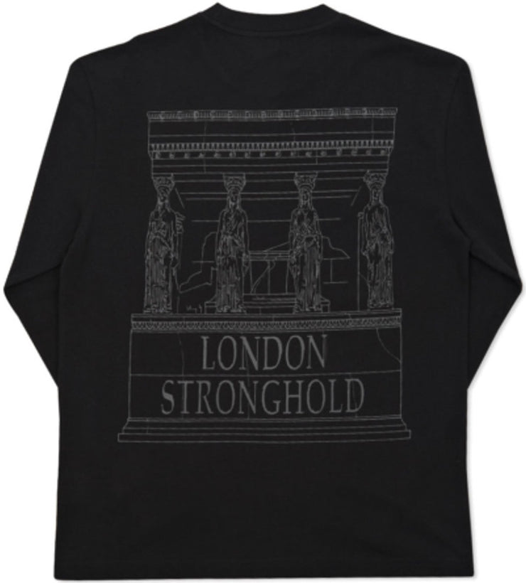PALACE - LONDON STRONGHOLD L/S TEE (BLACK)