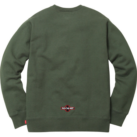 SUPREME/INDEPENDENT - FUCK THE REST CREWNECK (OLIVE)