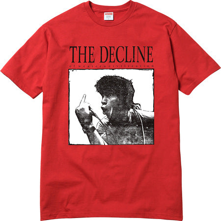 SUPREME - DECLINE OF WESTERN CIVILIZATION TEE (RED)