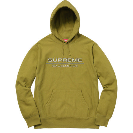 SUPREME - REFLECTIVE EXCELLENCE HOODED SWEATSHIRT (MOSS GREEN)