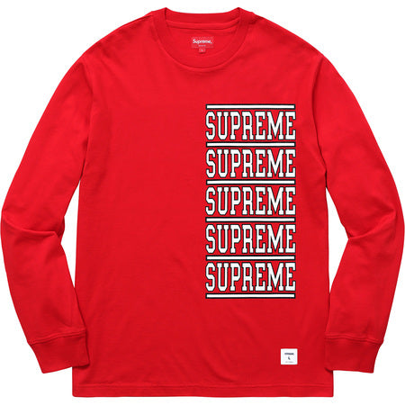SUPREME - STACKED L/S TOP (RED)