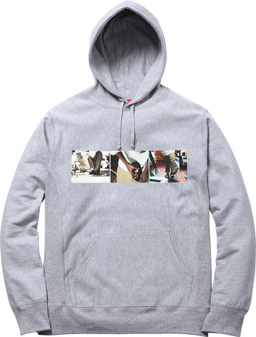 SUPREME/KIDS 20TH ANNIVERSARY - 40 OZ. HOODED SWEATSHIRT (GREY)